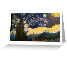 Starry Night Hand Painted Greeting Card