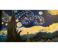 Starry Night Hand Painted Photographic Print