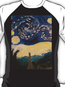 Starry Night Hand Painted T-Shirt