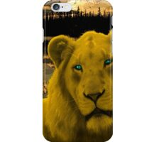 Yellow lion Justin Beck Picture 2015090 iPhone Case/Skin