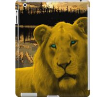 Yellow lion Justin Beck Picture 2015090 iPad Case/Skin