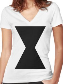 Monochromatic Heroes #3 Women's Fitted V-Neck T-Shirt