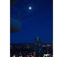 Highrise moon Photographic Print