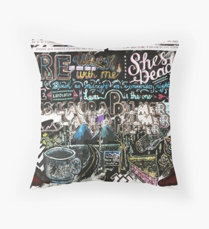 (an ode to) Twin Peaks Throw Pillow