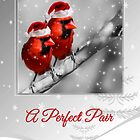 A Perfect Pair Christmas Cardinals by Doreen Erhardt