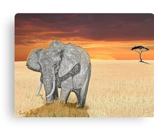 Savana Elephant Justin Beck Picture 2015085 Canvas Print