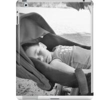 Baby sleeping in his trolley iPad Case/Skin