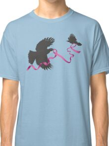 Flying Tui with Pink Ribbon Classic T-Shirt