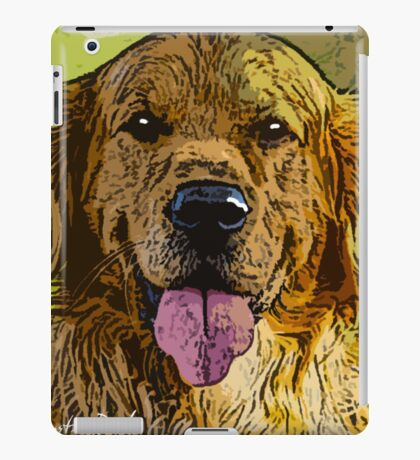 Golden-Retriever-Justin-Beck-Picture-2015093 iPad Case/Skin