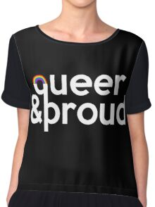 Queer and Proud Chiffon Top
