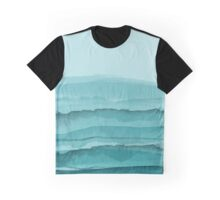 Watercolor Turquoise Sea Graphic T-Shirt