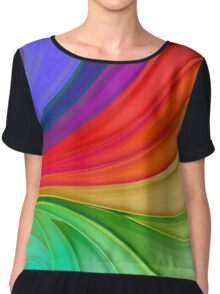 Abstract Rainbow Background Chiffon Top