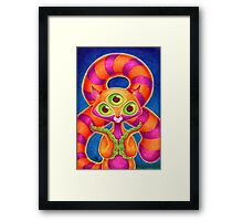 Precious Three-eyed Tentacle Cat Baby Framed Print