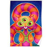 Precious Three-eyed Tentacle Cat Baby Poster