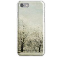 Softly Falling Snow iPhone Case/Skin