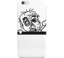 mauer wand klettern rahmen schild text team party zombies böse ekelig monster horror halloween zombie design  iPhone Case/Skin