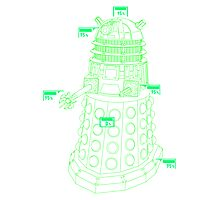 Exterminate the Robot - Light Photographic Print
