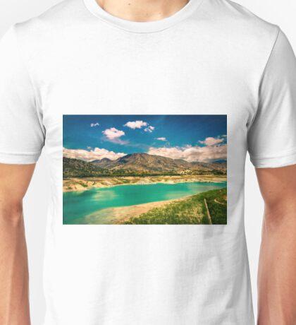 The view from Amodorio dam Unisex T-Shirt