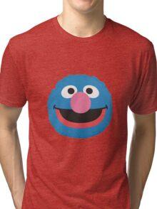grover face Tri-blend T-Shirt