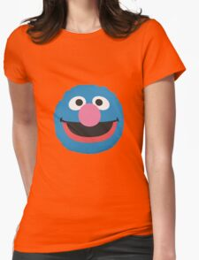 grover face Womens Fitted T-Shirt