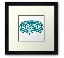 san antonio spurs primary Framed Print