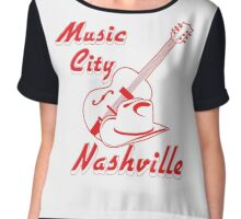 Nashville. Music city Chiffon Top