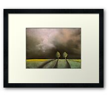 Trees in field Framed Print