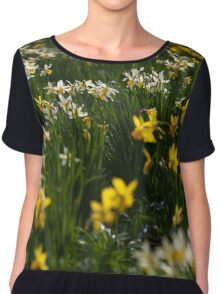 daffodils in the sun Chiffon Top