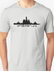 Atlantis Skyline with Gate Symbols T-Shirt