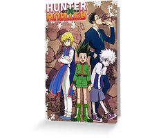 Hunter x Hunter poster Greeting Card