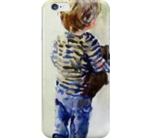 Boy and Teddy iPhone Case/Skin