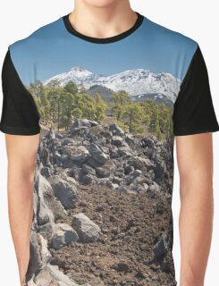 Over the Lava Fields and Tree Line to the Peak of El Teide Graphic T-Shirt