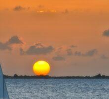 Sailing into the Sun Sticker