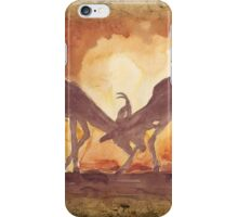 Territorial Dance in the African sunset iPhone Case/Skin