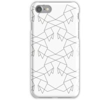 Heavy Rain Origami Pattern iPhone Case/Skin