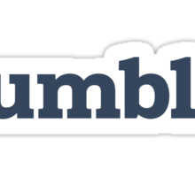Tumblr Blue Sticker