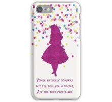 Pink glitter confetti bonkers iPhone Case/Skin