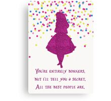 Pink glitter confetti bonkers Canvas Print