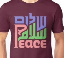 Trilingual peace graphic  Unisex T-Shirt