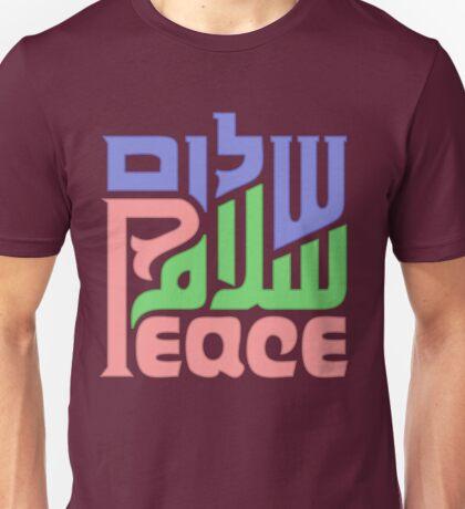 Trilingual peace graphic  Unisex T-Shirt