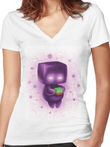 Baby Enderman  #1 Women's Fitted V-Neck T-Shirt