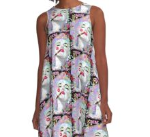 Marilyn post punk pop graffiti A-Line Dress