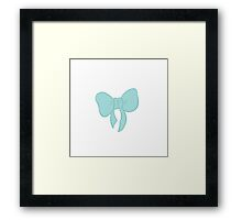 Bow Pattern Framed Print