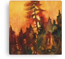 Forest Fire #1 Canvas Print