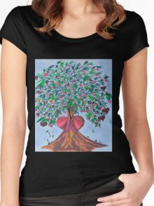 Tree Of Hearts Women's Fitted Scoop T-Shirt