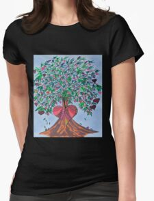 Tree Of Hearts Womens Fitted T-Shirt