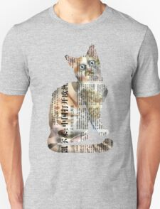 French Kitty on White Unisex T-Shirt