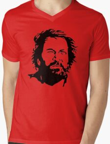 Bud Spencer Mens V-Neck T-Shirt