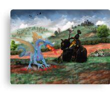 Slaying The Dragon Canvas Print