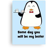 Betler penguin Canvas Print
